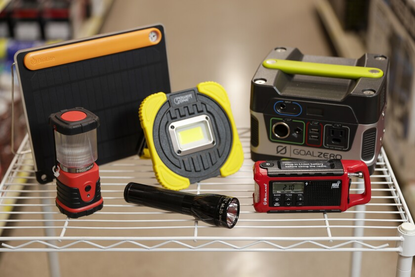 Shown are some of the items sold at SOS Survival Products.