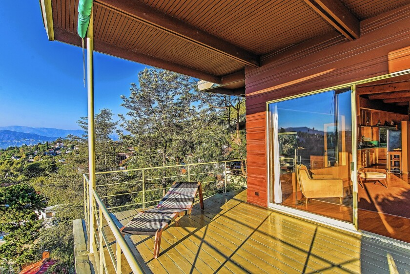 Killer views courtesy of stylish and coveted midcentury-modern homes are not uncommon. This house, at 1977 Lucile Avenue, is listed at $1.595 million.