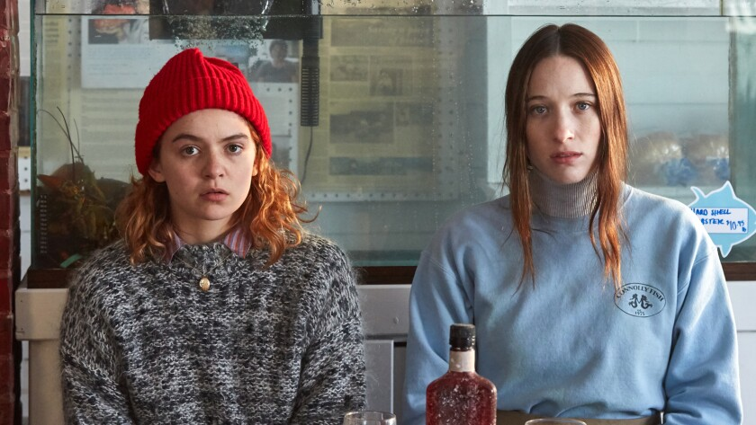 Morgan Saylor, left, and Sophie Lowe in the movie 'Blow the Man Down'