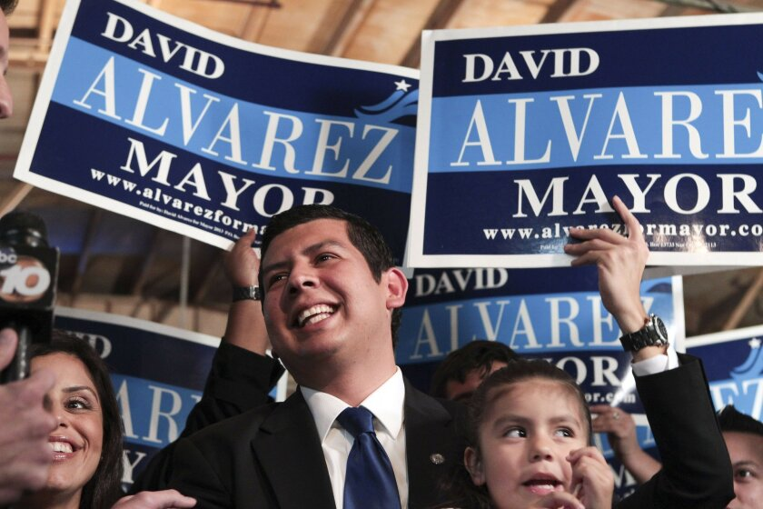Mayoral candidate David Alvarez