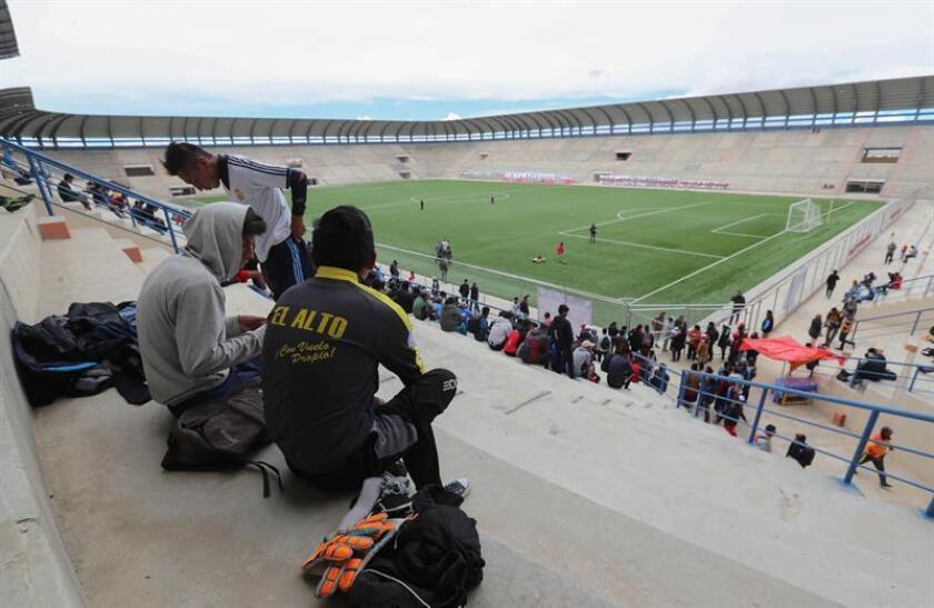 Vista del estadio Municipal de Villa Ingenio el pasado 10 de enero de 2019, en El Alto (Bolivia). EFE
