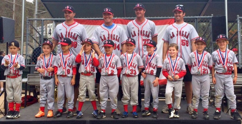 La Jolla Youth Baseball's Shetland White team
