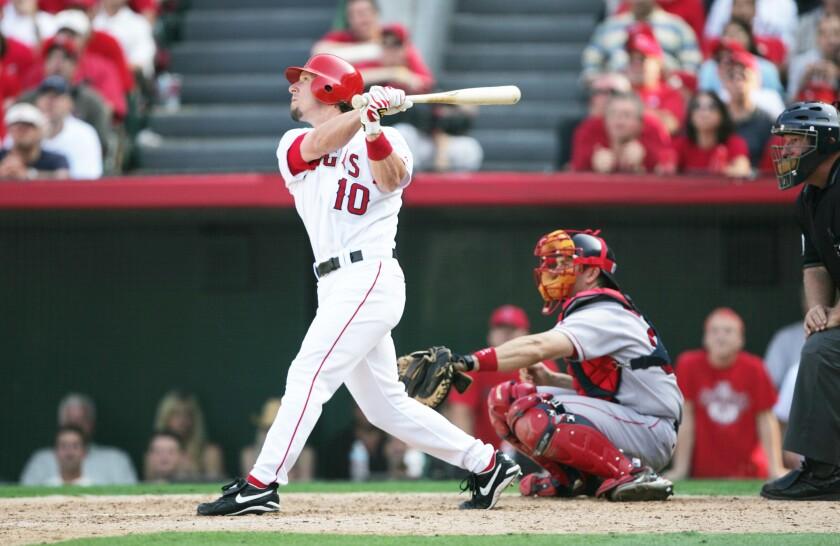 Angels first baseman Adam Riggs.