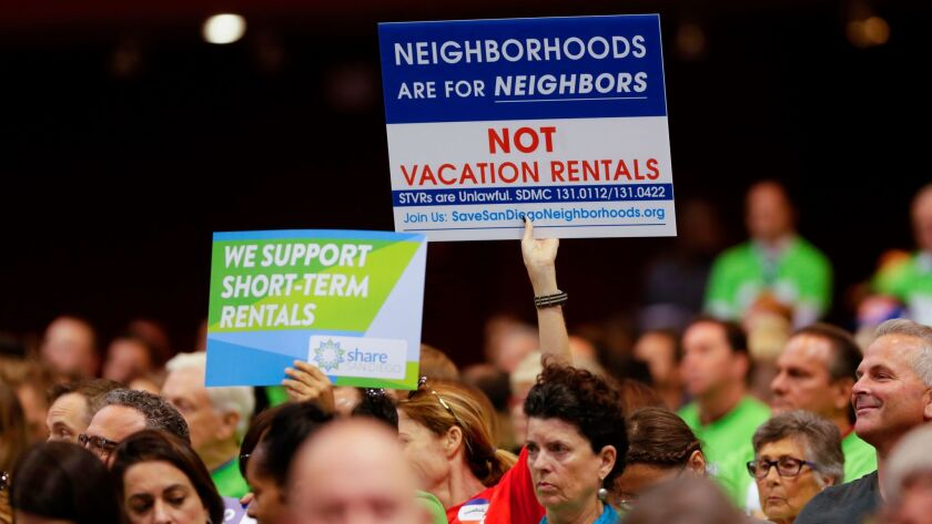 Short-term rental hearing before San Diego City Council