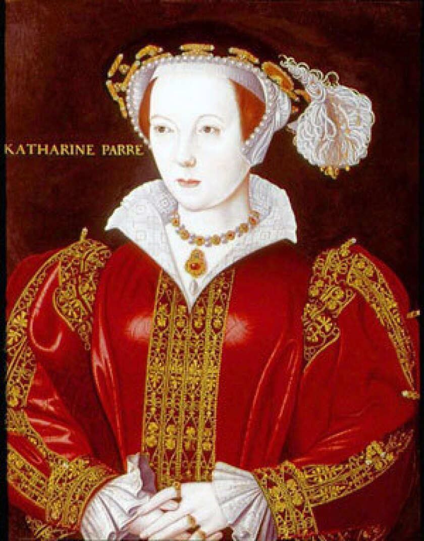 Katherine Parr (1512-48), the sixth and last wife of Henry VIII. Anonymous portrait circa 1545.