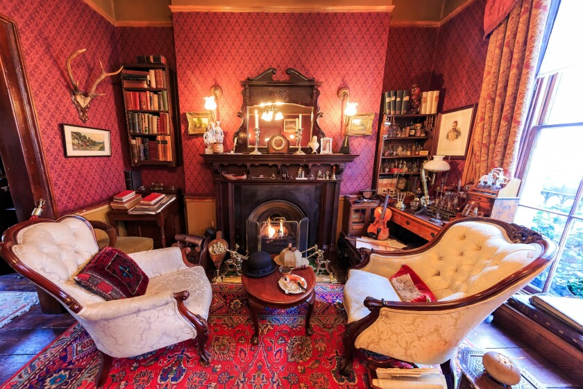 London, NOV 14: Interior view of the famous The Sherlock Holmes Museum on NOV 14, 2015 at London, United Kingdom