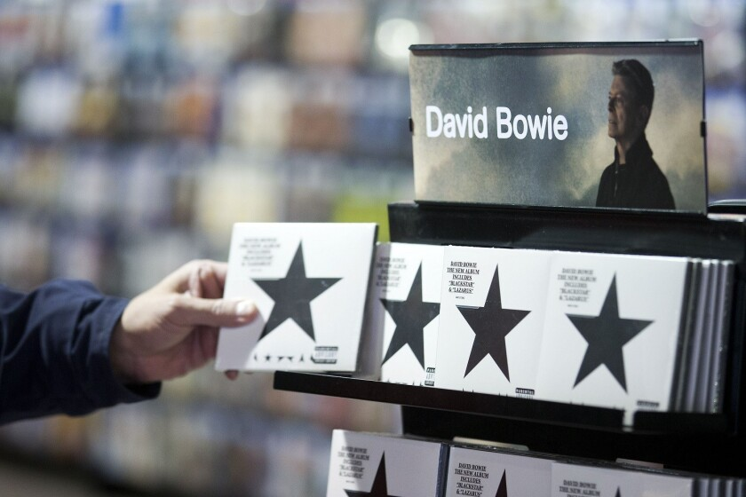 "David Bowie knew he was dying of cancer when he made ""Blackstar,"" an edgy, shape-shifting album that explores issues of mortality with haunting results. (AFP PHOTO / JUSTIN TALLIS/Getty Images)"