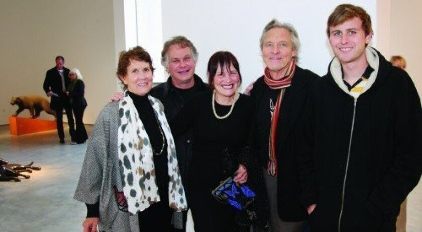 Artist Gwynn Murrill, David Faron, Christen McLeod, Dale McLeod, Ian McCarty (Photo: Jon Clark)
