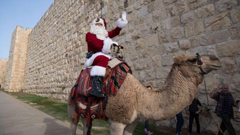 Christmas preparations in Jerusalem, --- - 21 Dec 2017