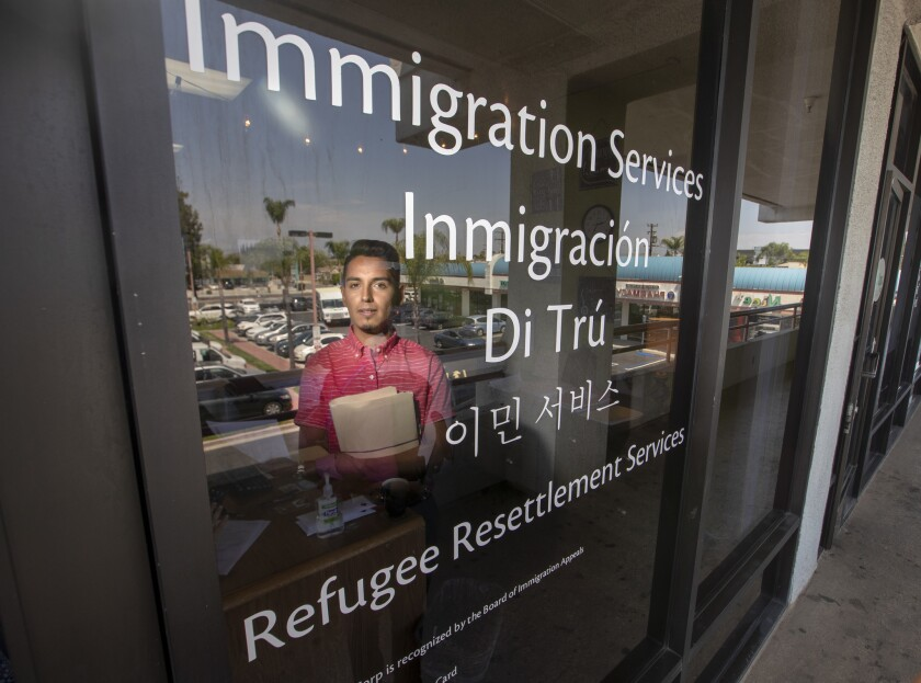 GARDEN GROVE, CALIF. -- TUESDAY, JULY 17, 2018: Jose A. Serrano, Department of Justice Representativ