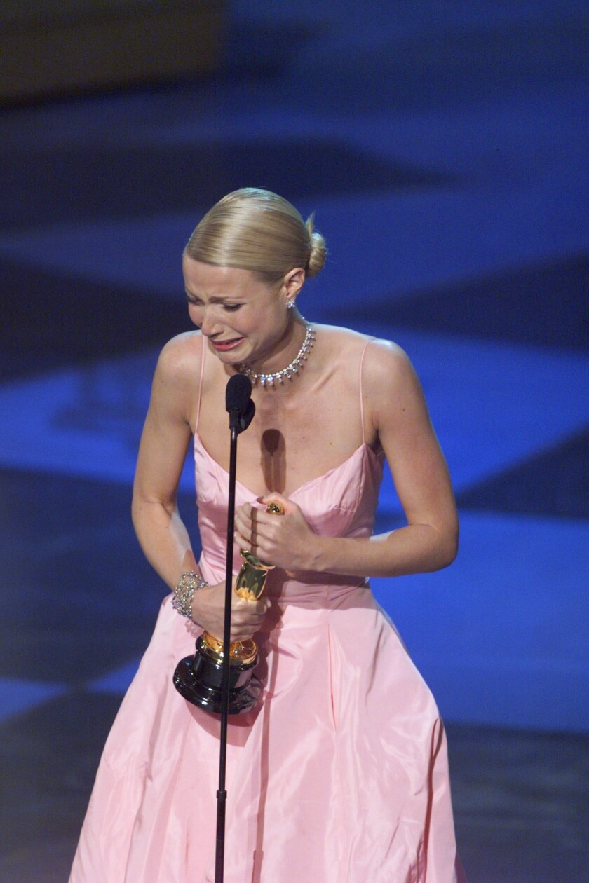 Gwyneth Paltrow wins for best actress at the 71st Annual Academy Awards, at the Dorothy Chandler Pavillion on Sunday, March 21,1999.