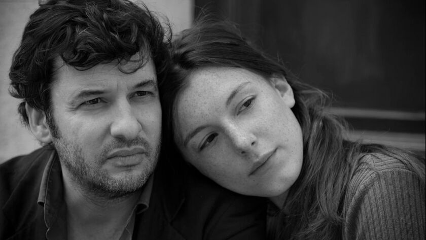 "(L-R) - Eric Caravaca as ""Gilles"" and Louise Chevillotte as ""Arianne"" in Philippe Garrel's ""Lover f"