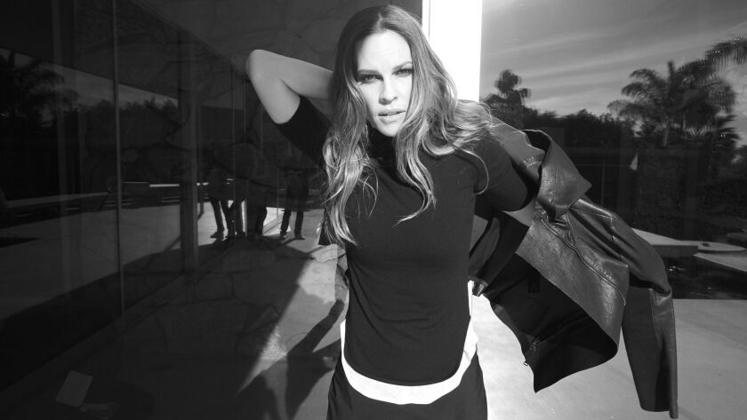 Academy Award winner Hilary Swank's fashion brand, Mission Statement, recently debuted at Nordstrom stores including the retailer's Santa Monica location as well as online at shop.nordstrom.com.