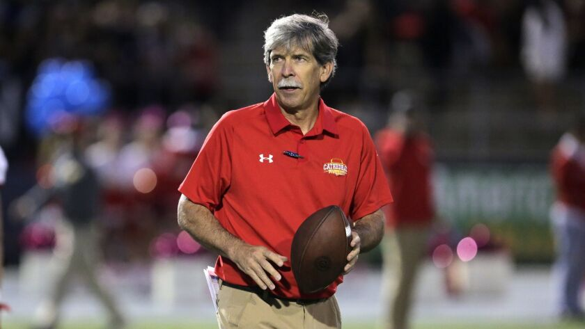 Catherdral Catholic coach Sean Doyle, 10/06/18. photo by Bill Wechter