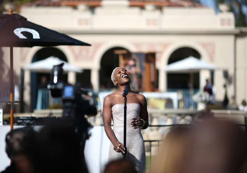 Cynthia Erivo performs onstage at Gold Meets Golden
