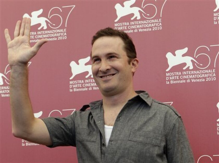 Director Darren Aronofsky gestures at the photo call for the film Black Swan during the 67th edition of the Venice Film Festival in Venice, Italy, Wednesday, Sept. 1, 2010. (AP Photo/Andrew Medichini)
