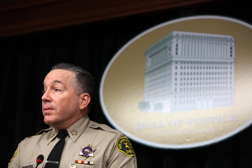 Sheriff Alex Villanueva clashes frequently with Los Angeles County supervisors.