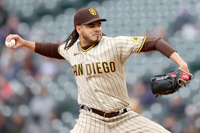 Padres starting pitcher Dinelson Lamet