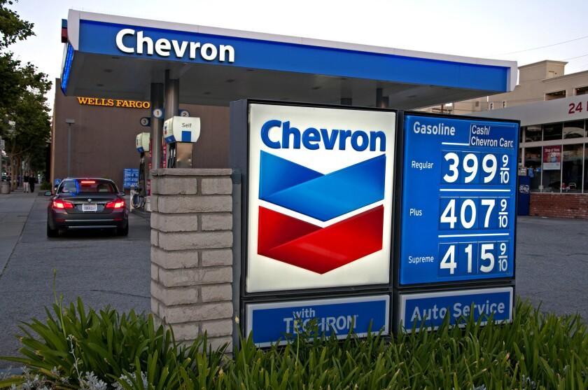 Gasoline prices in L.A. County