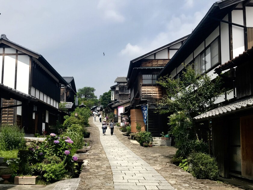 A street in the picturesque city of Magome.