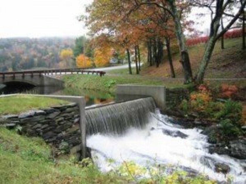 In 2000, the state of Vermont repaired the WPA-built bridge that crosses the pond just above the dam below our house.