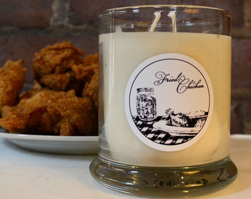 Fried-chicken candles