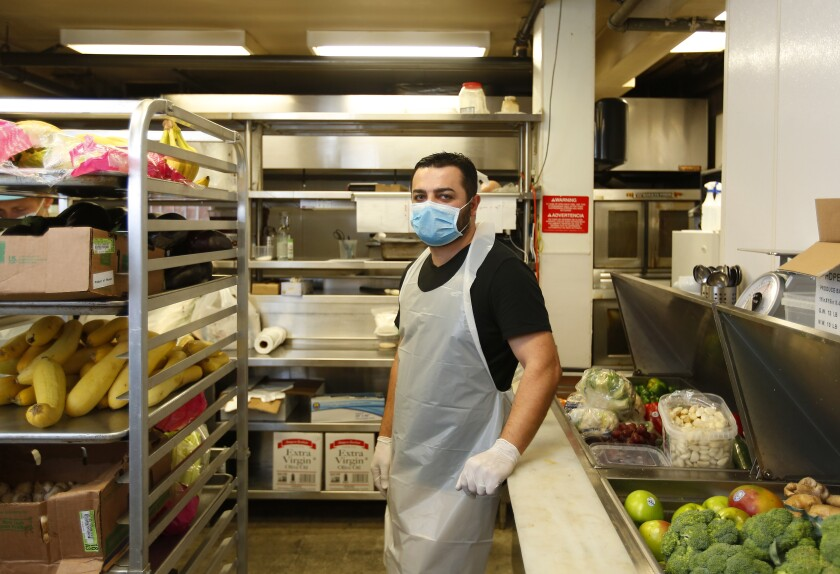 Ike Gazaryan, owner of Pushkin Russian Restaurant, at his restaurant in downtown San Diego.