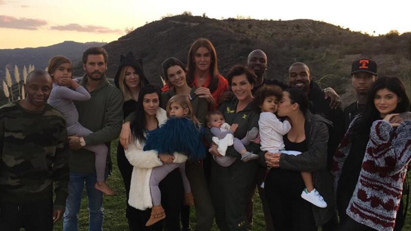 "Kylie Jenner posted this photo of her ""blended family"" Thursday on Instagram."