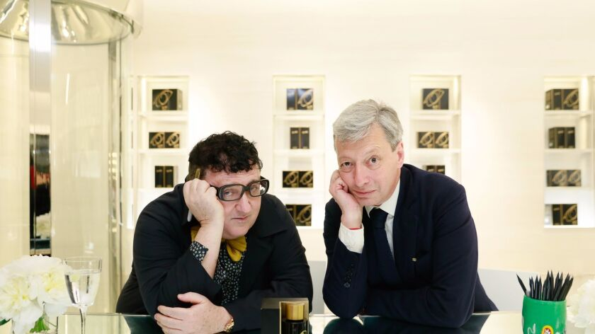 Alber Elbaz and Frederic Malle