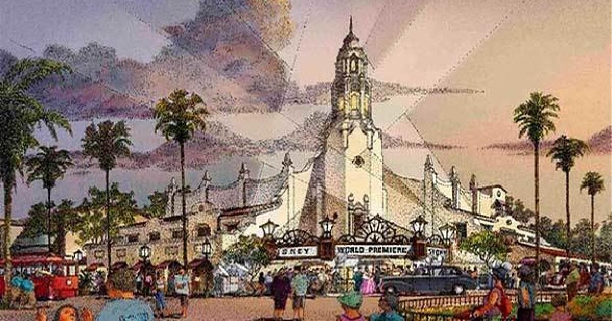 Concept art of Buena Vista Street at Disney California