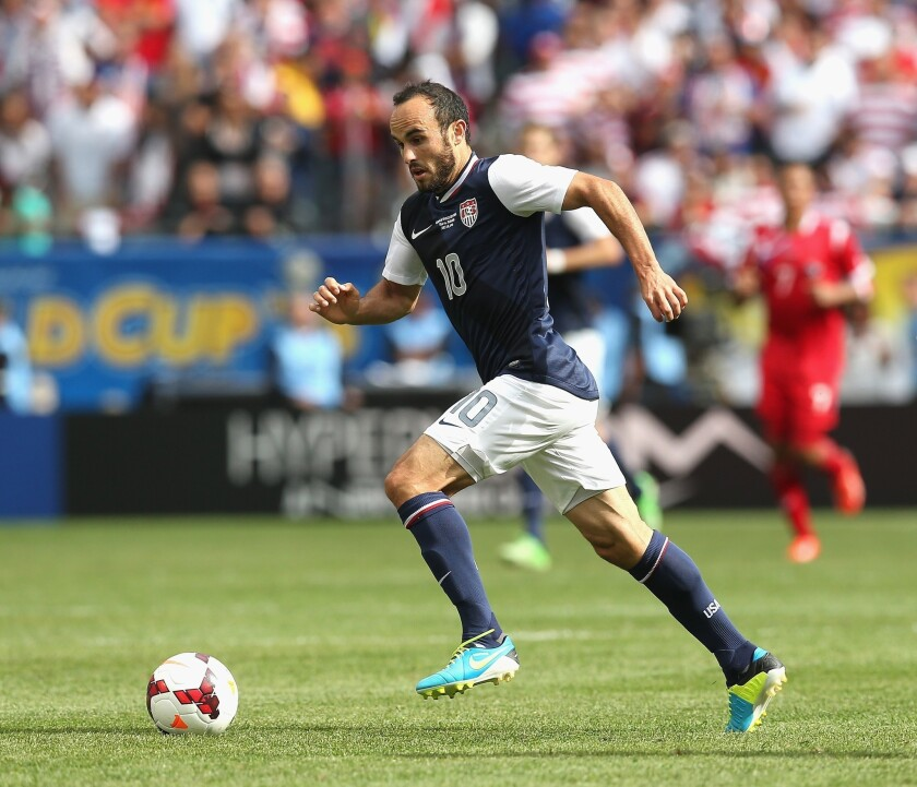 Galaxy's Landon Donovan plays for the U.S. against Panama during the CONCACAF Gold Cup final.