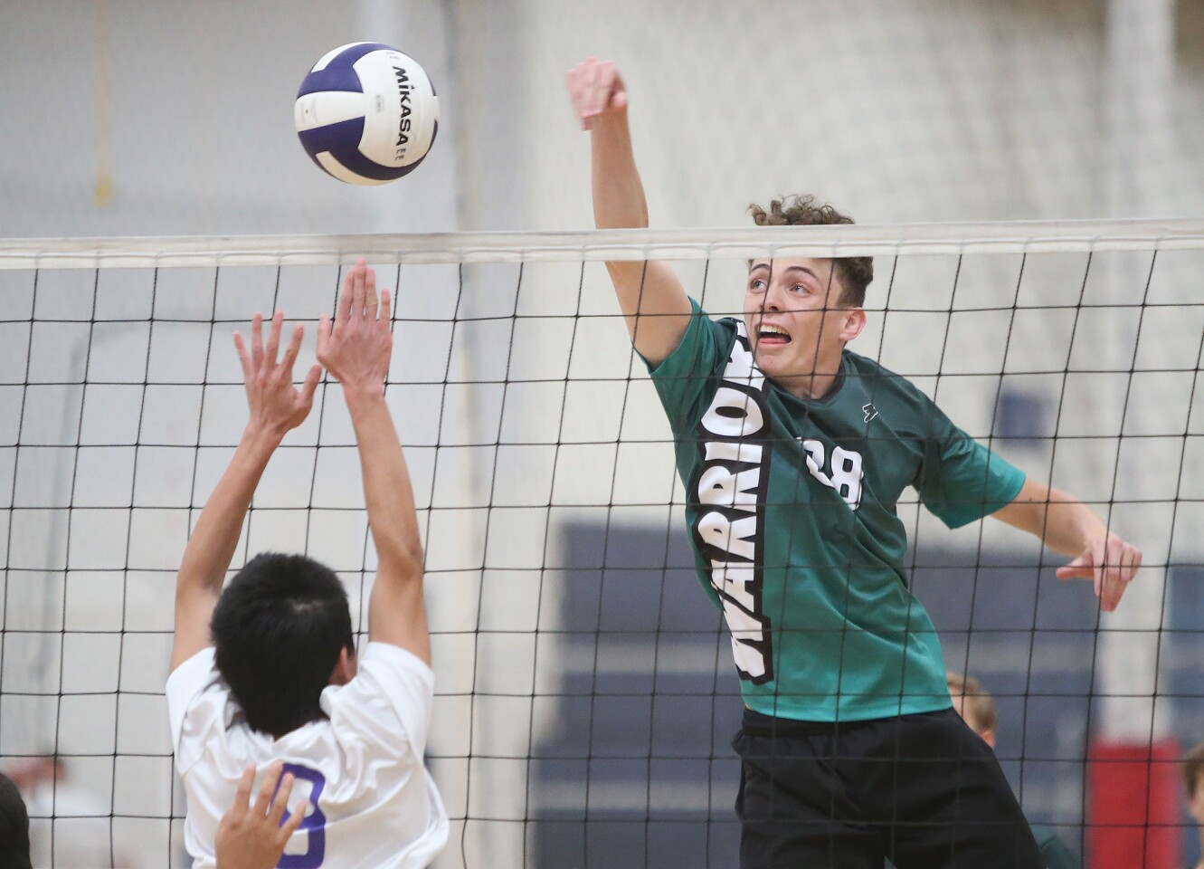 Brethren Christian versus Emerson Honors in boys' volleyball