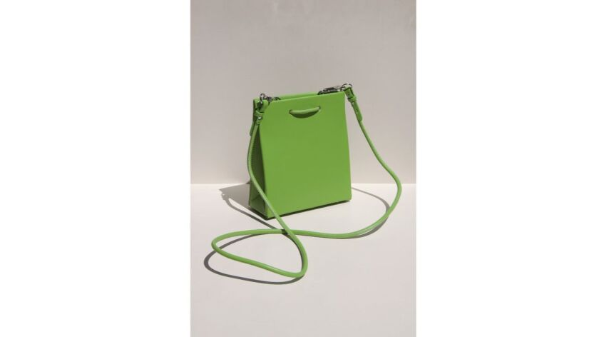 A cross-body bag from Italian brand Medea is designed to be worn by anyone. $565. shoplcd.co Credit