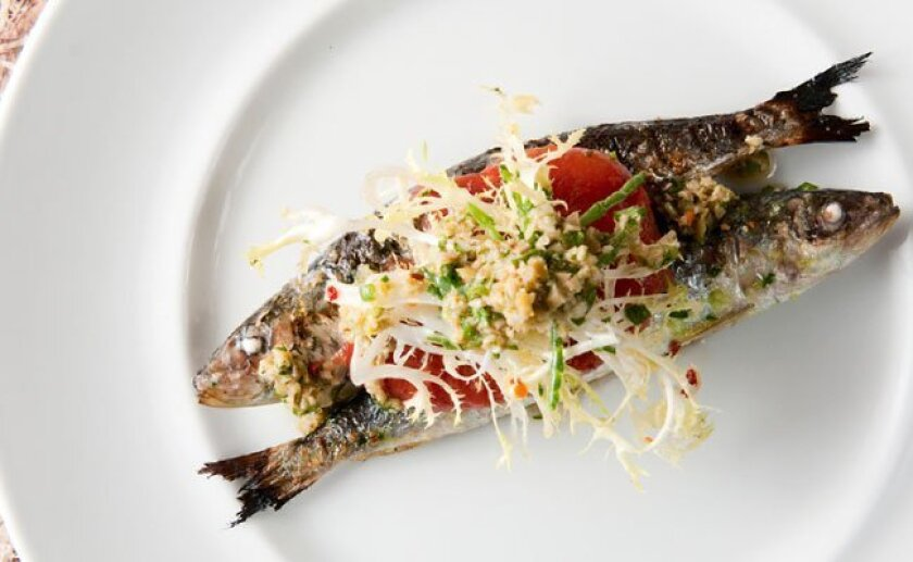 Sea Rocket Bistro in North Park is doing rustic, simple, flavorful dishes like this Sardines a la Veracruz. Nice work, chef Chad White.