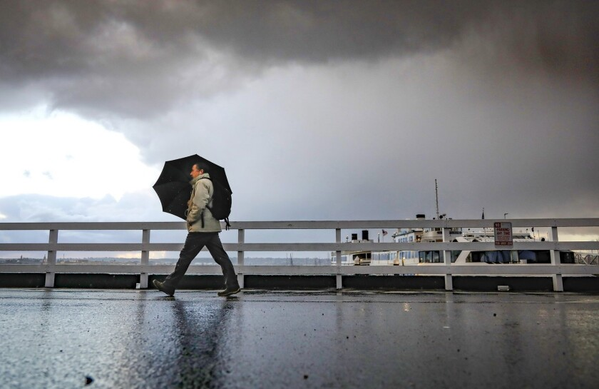 San Diego will get three storms by late next week.