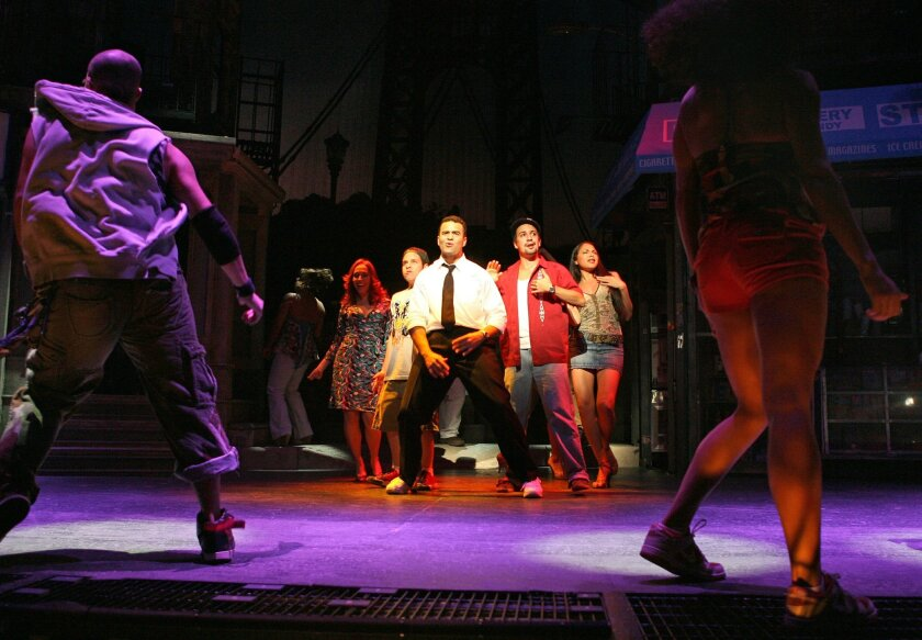 "A scene from the Broadway production of ""In the Heights."""