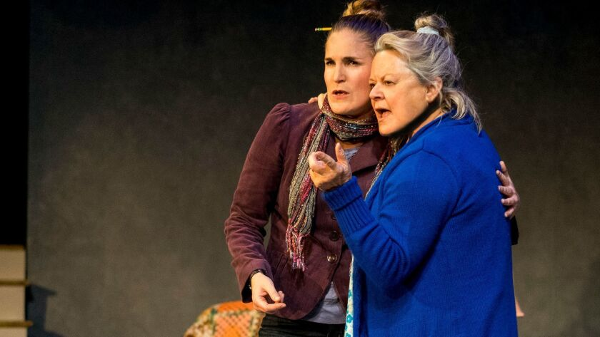 """Samantha Ginn (left) and Annie Hinton in Diversionary Theatre's """"Well."""""""