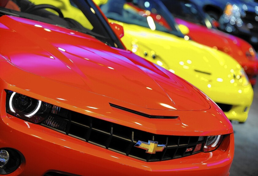 GM recalls almost 465,000 Chevy Camaros for ignition problem