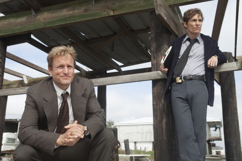 """Woody Harrelson, left, and Matthew McConaughey star in HBO's """"True Detective."""""""