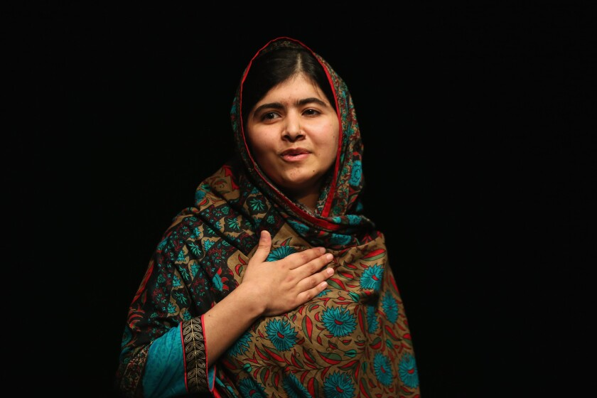 Education activist Malala Yousafzai is one of two winners of this year's Nobel Peace Prize.