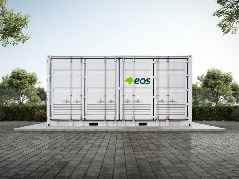 A zinc-based battery energy storage installation from Eos Energy.