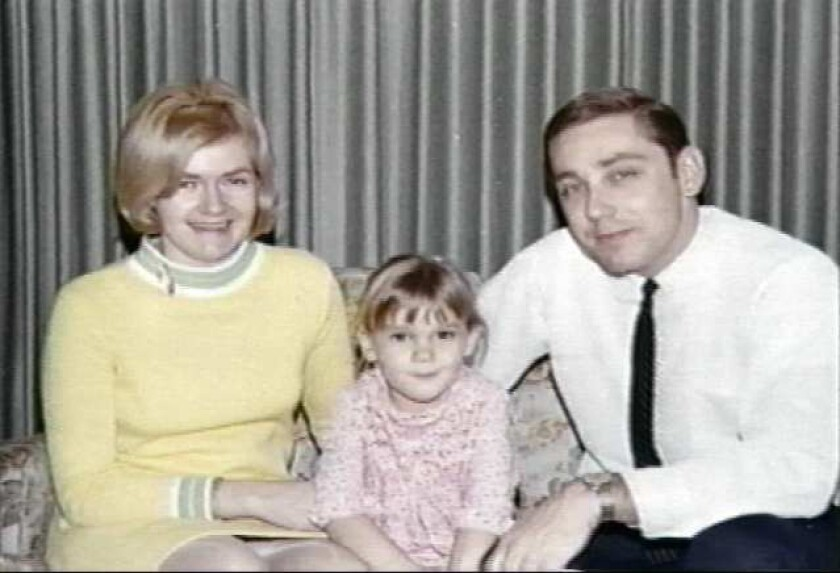 Colette and Kimberley MacDonald with Army surgeon Jeffrey MacDonald, convicted in 1979 of murdering his family in 1970.