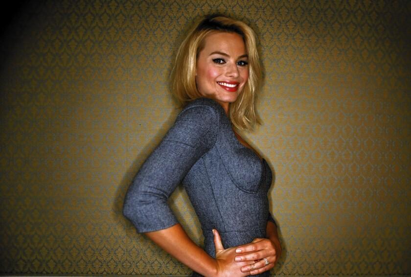 """Margot Robbie portrays Leonardo DiCaprio's sexy wife in """"The Wolf of Wall Street."""""""