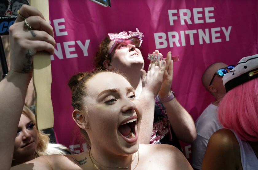 Britney Spears supporters react to the news that Spears was granted permission by a judge to hire a lawyer of her choice.
