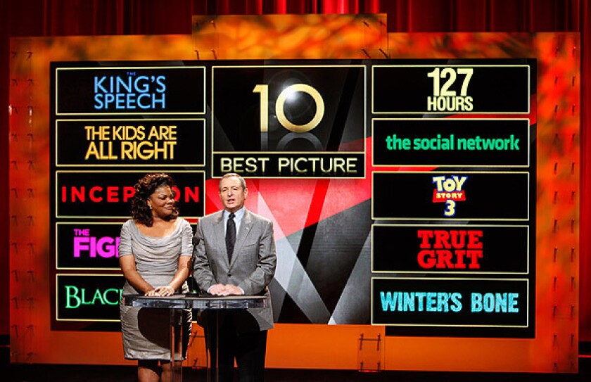 Academy of Motion Picture Arts and Sciences President Tom Sherak and 2009 Oscar winner Mo'Nique announce the nominations for the 83rd Academy Awards in Beverly Hills.