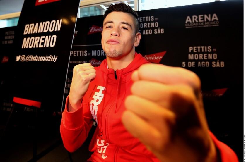 El tijuanense Brandon Moreno (foto)