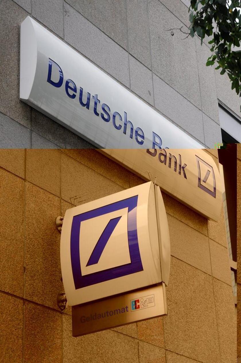 El Deutsche Bank anunció hoy que ha aceptado pagar 7.200 millones de dólares para cerrar un litigio que tenía abierto en EE.UU. sobre titulaciones de hipotecas, menos de la mitad de lo que estaban reclamando las autoridades de este país. EFE/ARCHIVO