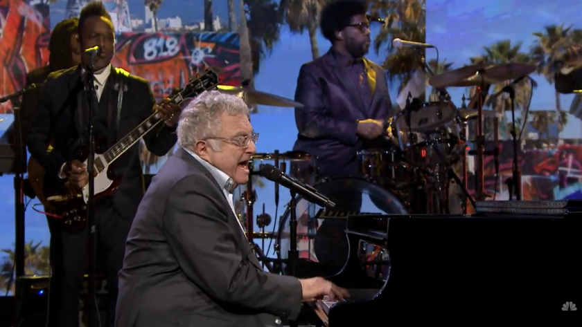 """Randy Newman performs his hit """"I Love L.A."""" with the Roots on """"The Tonight Show Starring Jimmy Fallon."""""""