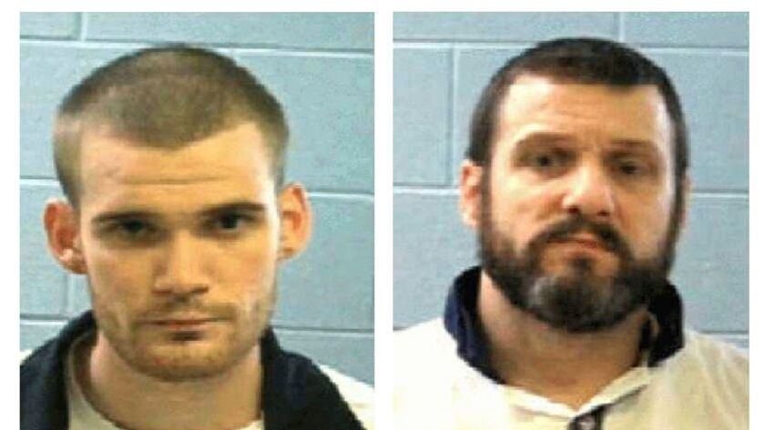 An undated photo by the Georgia Department of Corrections shows inmates Ricky Dubose, left, and Donnie Russell Rowe, right.