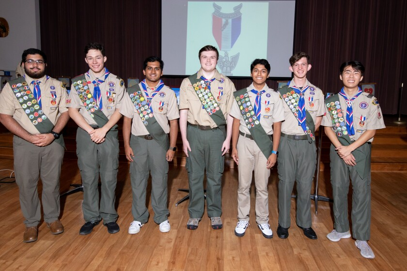 Eagle Scout Court of Honor, Troop 654 Poway, at St. Michael's Holy Family Center in Poway